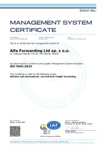 Pozytywny audyt SZJ: ISO 9001:2015